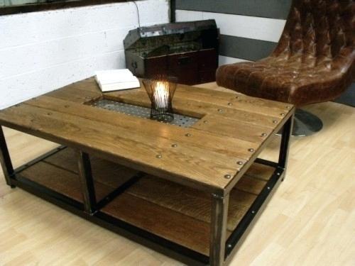 Table basse style industriel ebay
