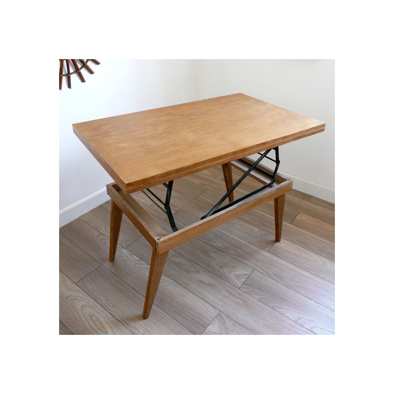 Table basse vintage transformable