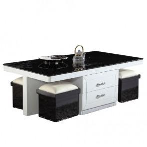 Table basse avec rangement noir