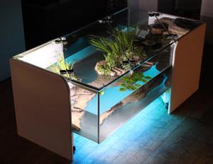Creer table basse aquarium