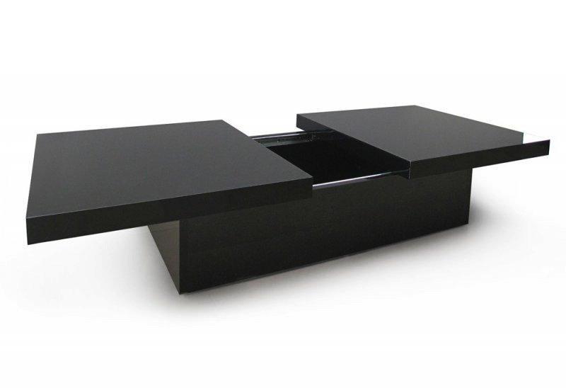 Table basse avec rangement interieur