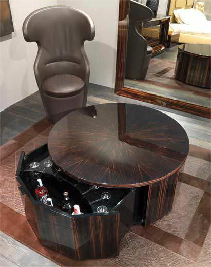 Table basse avec rangement pour bouteille - Maison et meuble de maison
