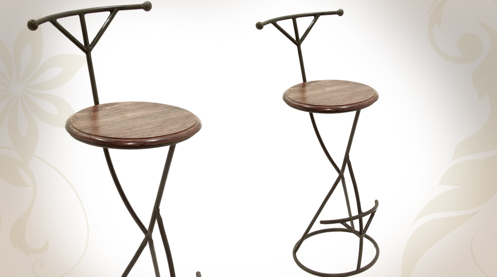 Tabouret bar type industriel