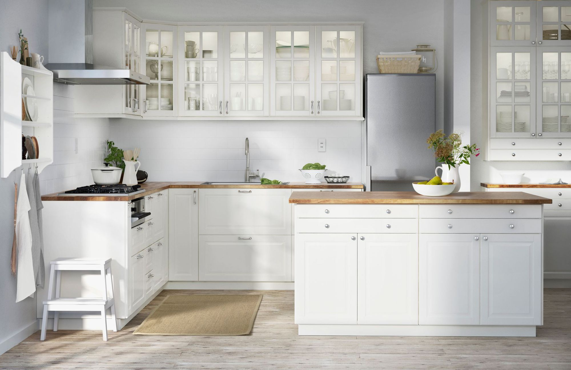 Meuble de cuisine bois blanc