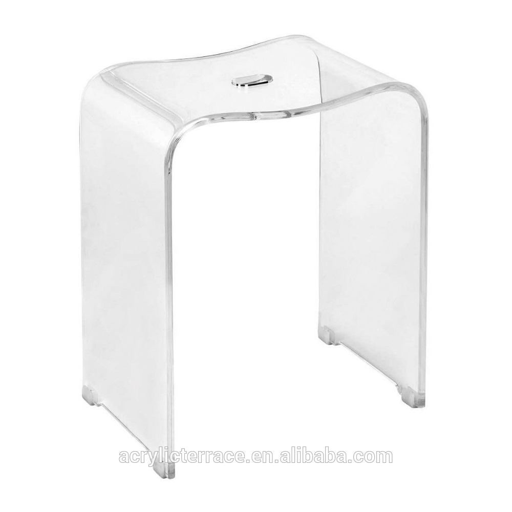 Tabouret de douche transparent - Maison et meuble de maison