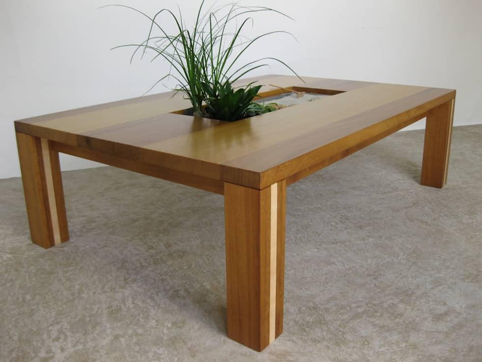 Table basse avec casier de rangement