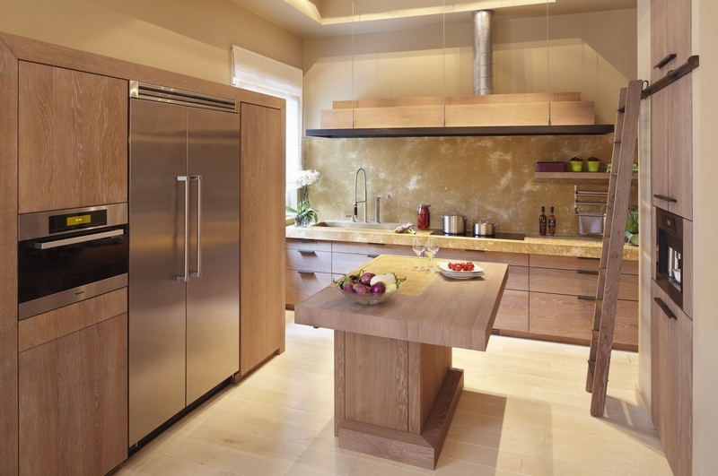 Meuble de cuisine moderne en bois - Maison et meuble de maison