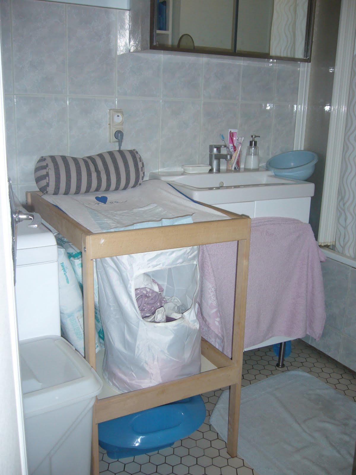 Table à langer salle de bain