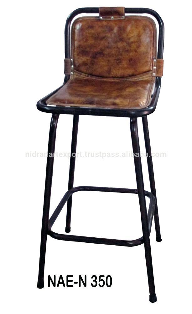 tabouret bar industriel cuir maison et meuble de maison. Black Bedroom Furniture Sets. Home Design Ideas