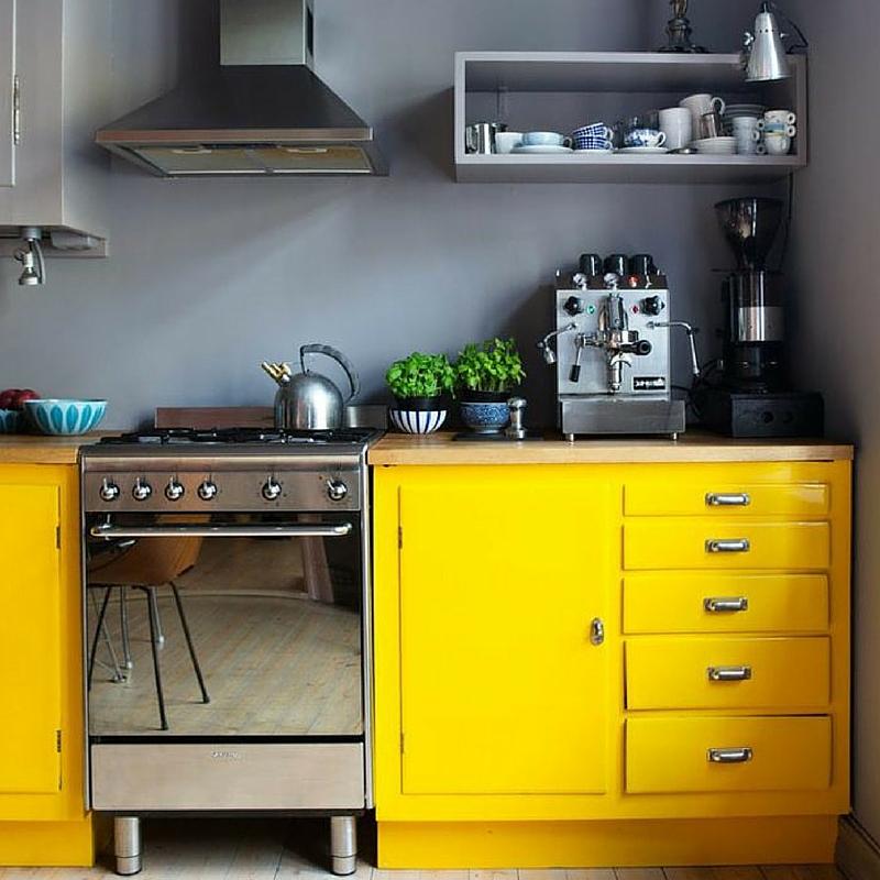 Emejing meuble de cuisine jaune gallery amazing house for Meuble cuisine jaune