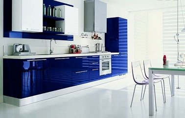 meuble de cuisine bleu nuit maison et meuble de maison. Black Bedroom Furniture Sets. Home Design Ideas