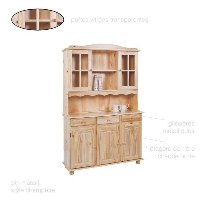 Meuble haut de cuisine 3 portes pas cher