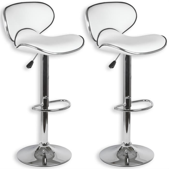 Tabouret design lounge (lot de 2)