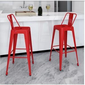 Tabouret de bar en acier rouge