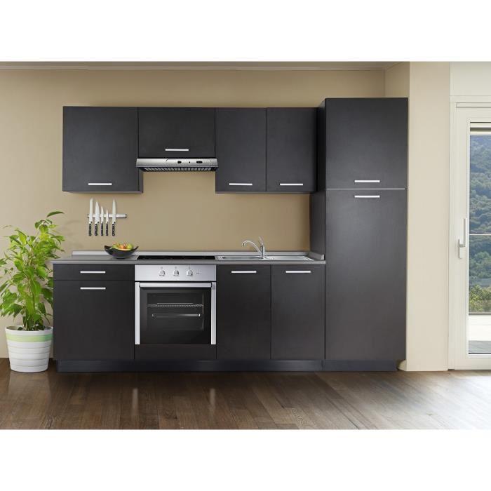 meuble cuisine noir pas cher maison et meuble de maison. Black Bedroom Furniture Sets. Home Design Ideas