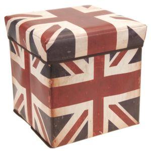 Tabouret avec drapeau anglais