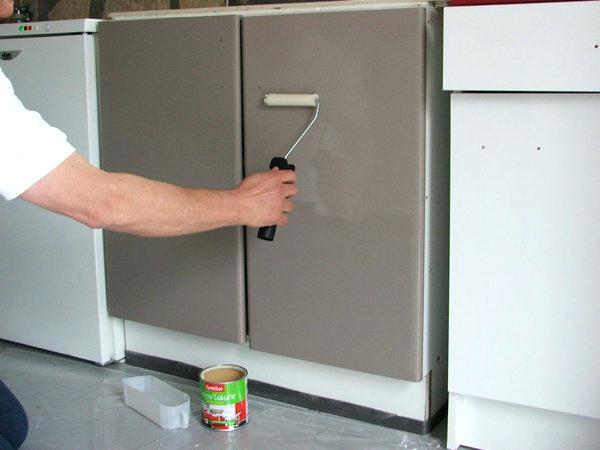 Repeindre un meuble de cuisine en m lamin maison et meuble de maison - Repeindre un meuble en melamine ...