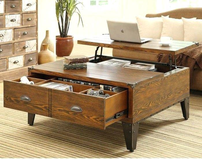 Table basse archives maison et meuble de maison - Table basse ronde avec rangement ...