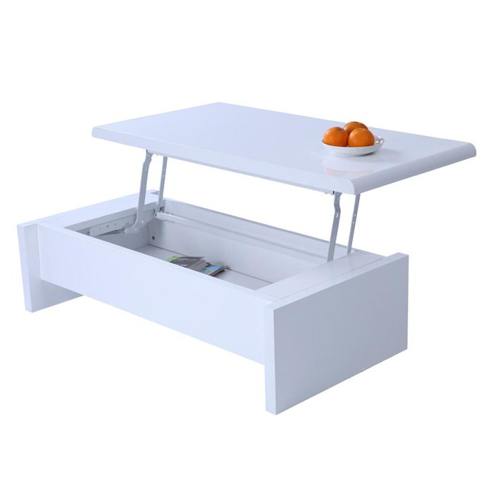 Cosmo table basse blanc avec rangement
