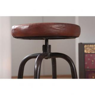 Tabouret bar acier cuir