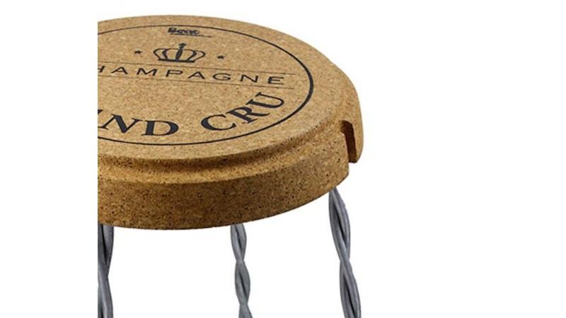 Tabouret design bouchon de champagne