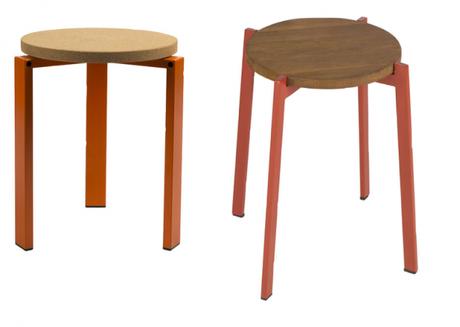Tabouret bois design japonais