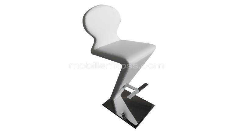 Tabouret design cuir blanc